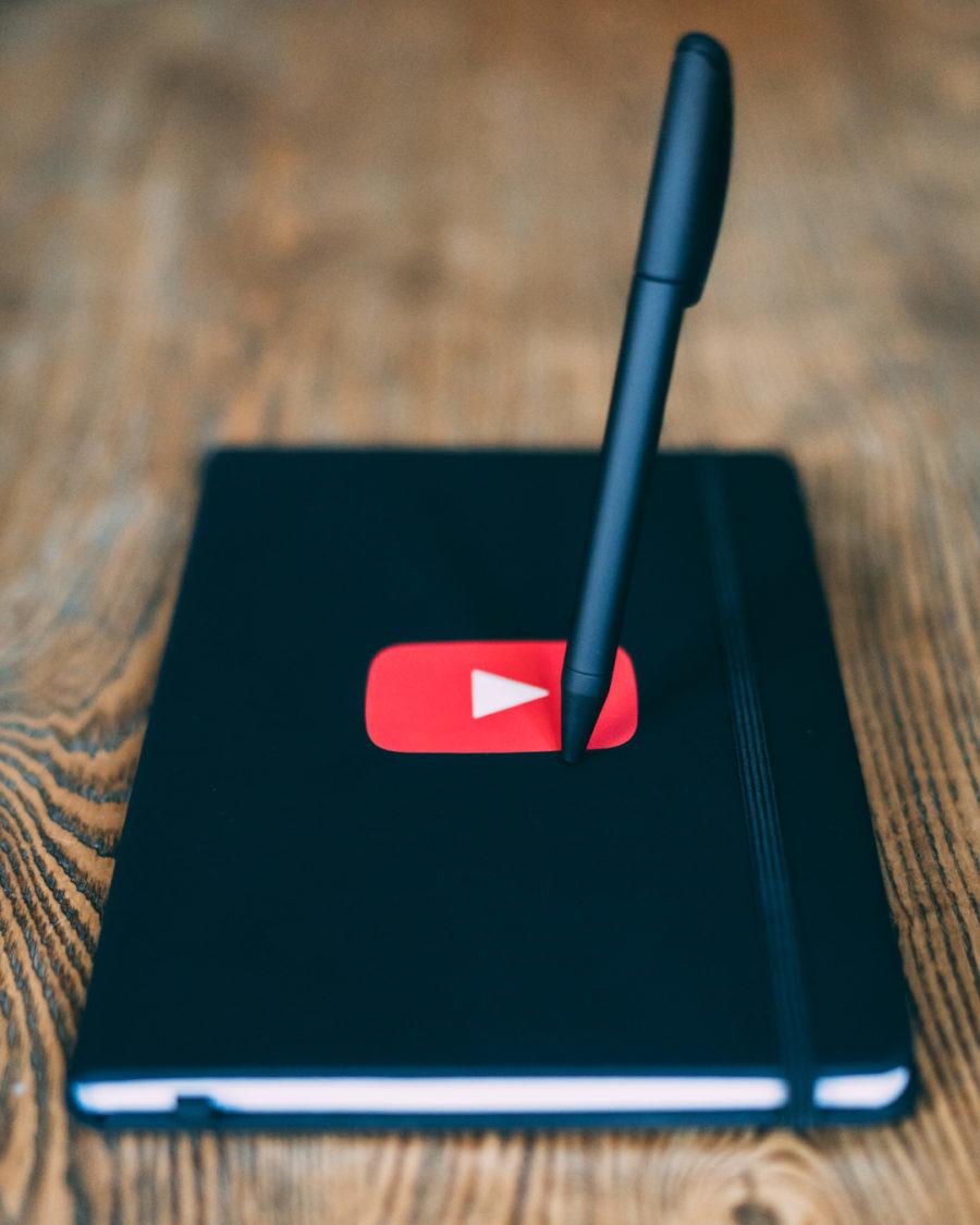 Carnet avec le logo Youtube