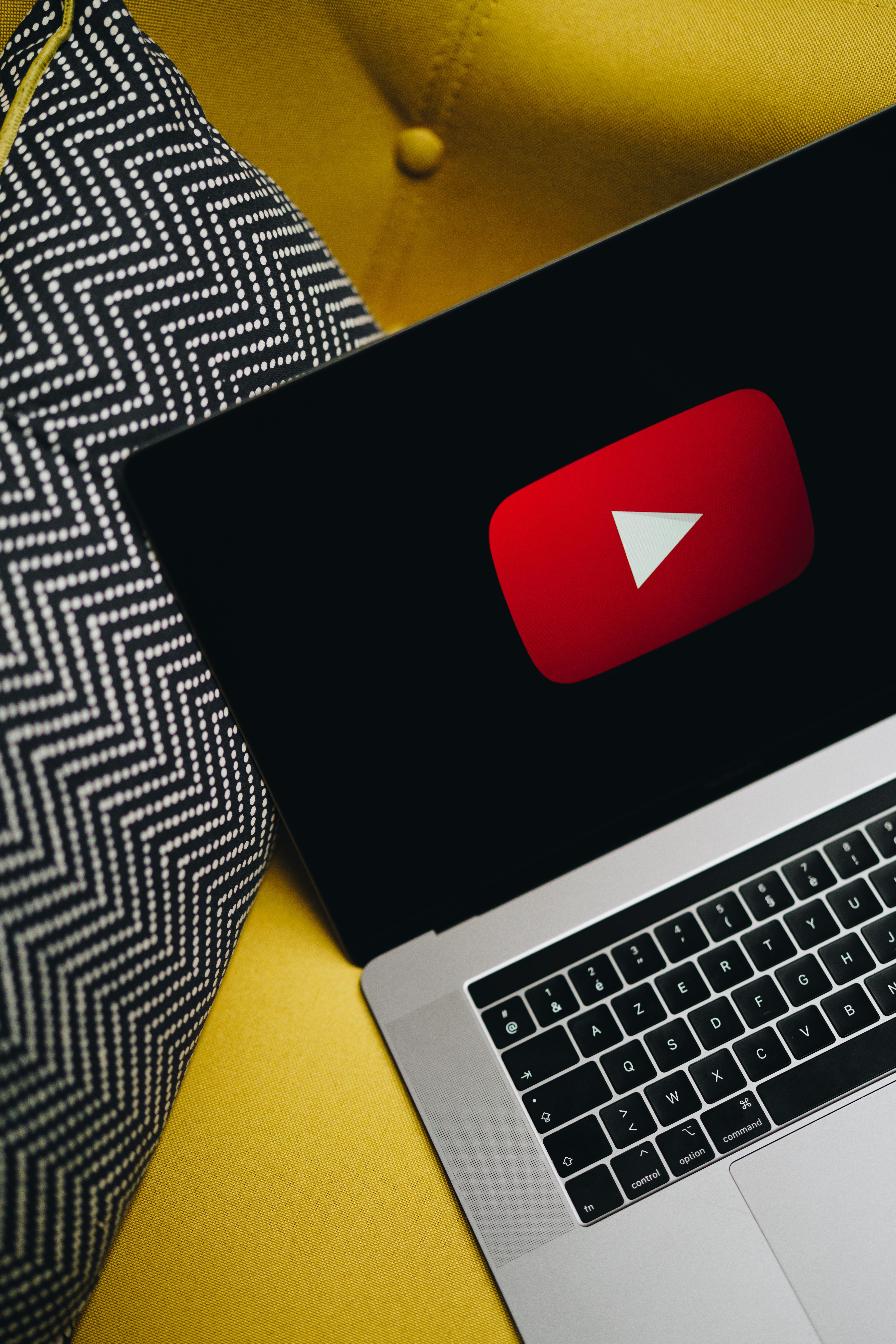 Logo Youtube sur un ordinateur